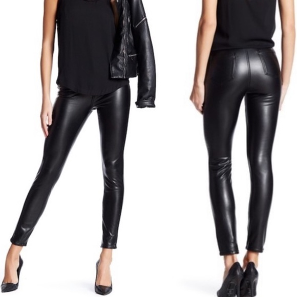 5d9259bcb5 Ashley Mason Pants | Nwt Nordstrom Faux Leather Slimming Stretch ...